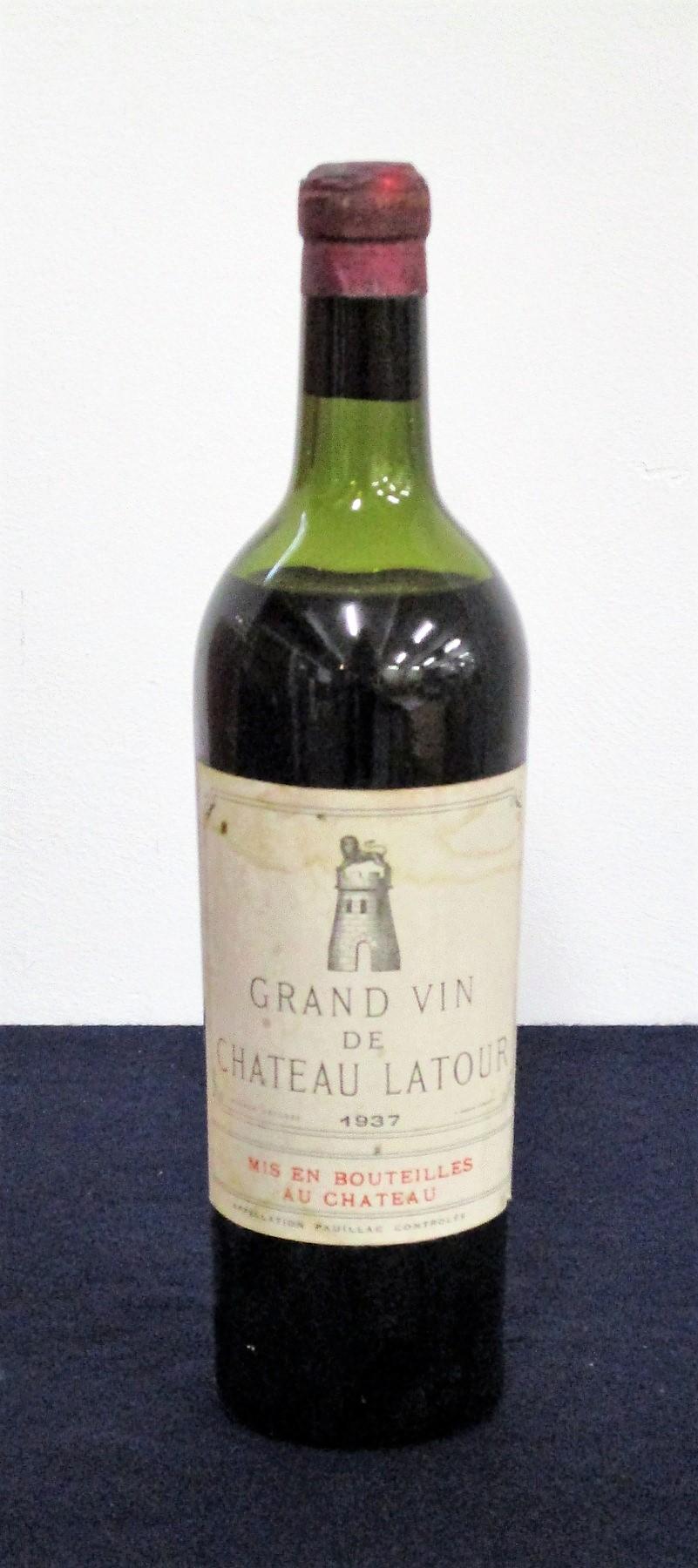 1 bt Ch. Latour 1937 Pauillac, 1er Cru Classé lms, aged/sl stl, vsl damaged foil