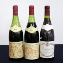 2 bts Chassagne Montrachet, 'Les Meix-Goudard' 1978 Philippe Bouzereau ms, ls, bs /aged /cdl, sl stl
