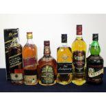 1 70-cl bt Johnnie Walker Black label 12 YO Extra Special Whisky 40% oc 1 26 2/3 fl oz bt Johnnie