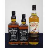 1 litre bt Jack Daniels Old N°7 Whiskey 40% 1 70-cl bt Jack Daniels Old N°7 Whiskey 40% 1 litre bt