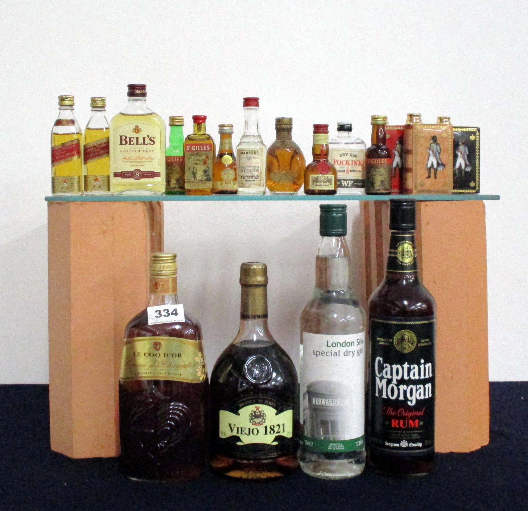 1 70-cl bt Captain Morgan The Original Rum 40% 1 70 cl bt London Silk Special Dry Gin 37.5% 1 75