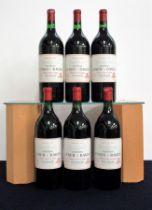 6 magnums Ch. Lynch-Bages 1982 owc Pauillac, 5me Cru Classé i.n, 2 labels vsl mis-printed (blurred)