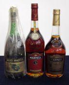 1 24 fl oz Rémy Martin Fine Champagne V.S.O.P. Cognac 70° proof 1 70-cl bt Martell V.S.O.P.