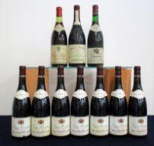 1 bt Côte Rôtie 1975 French bottled by H Sichel & Sons ts, stl/sl bs 1 bt Gigondas 1983 PJA us/ts,