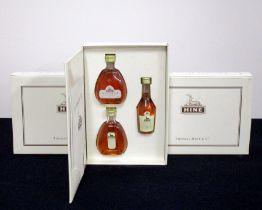 Three Presentation Cases containing one of each:- 1 x 5-cl bt Hine Antique Tres Rare Fine