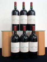 6 magnums Ch. Lynch-Bages 2003 owc Pauillac, 5me Cru Classé i.n