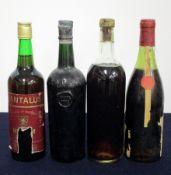 1 bt Tantalus believed Fortified Wine NV torn label 1 Averys Unknown bt believed Fortified Wine ID
