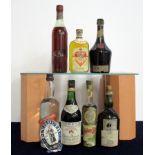 1 26 2/3 fl oz bt Plymouth Original Gin vts, bs, loose label, 1 bt Torres Solera Selecta VSOP 5 YO