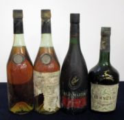 1 bt Prunier Cognac missing label ID from capsule 1 bt Prunier Old Pale Fine Champagne Cognac, bs/