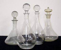 4 Assorted Decanters with Stoppers