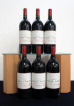 6 magnums Ch. Lynch-Bages 1995 owc Pauillac, 5me Cru Classé i.n