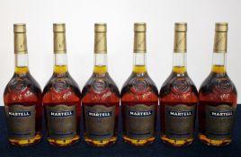 6 70-cl bts Martell V.S. Fine Cognac 40% oc