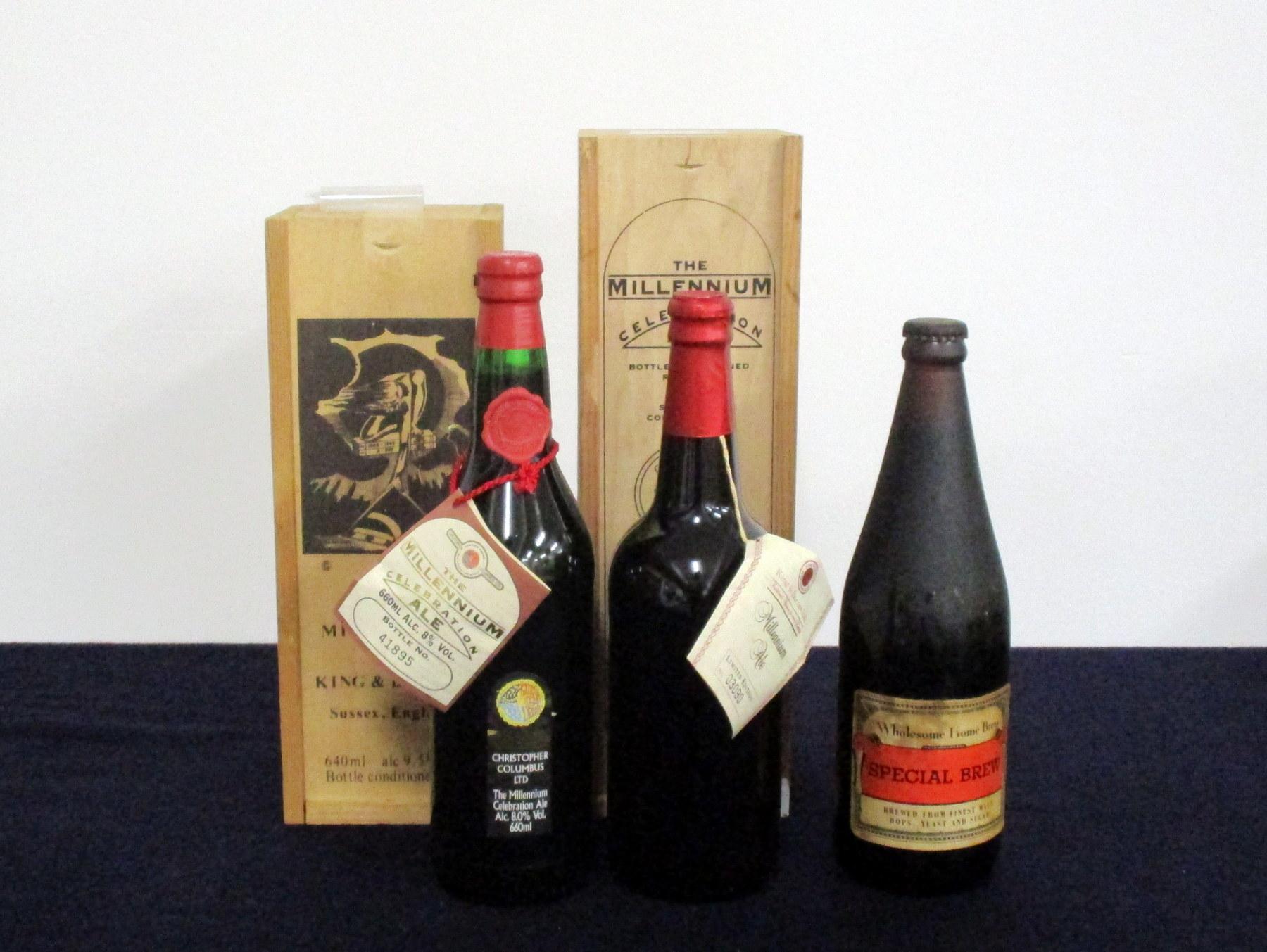 1 660 ml bt Christopher Colombus Ltd The Millennium Celebration Ale 8% in presentation case 1 660 ml