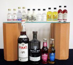 1 litre bt Pimms N° 1 1 70-cl bt Whitely Neill Rye Vodka 43% 2 5-cl bts Liverpool Gin Rose Petal 43%