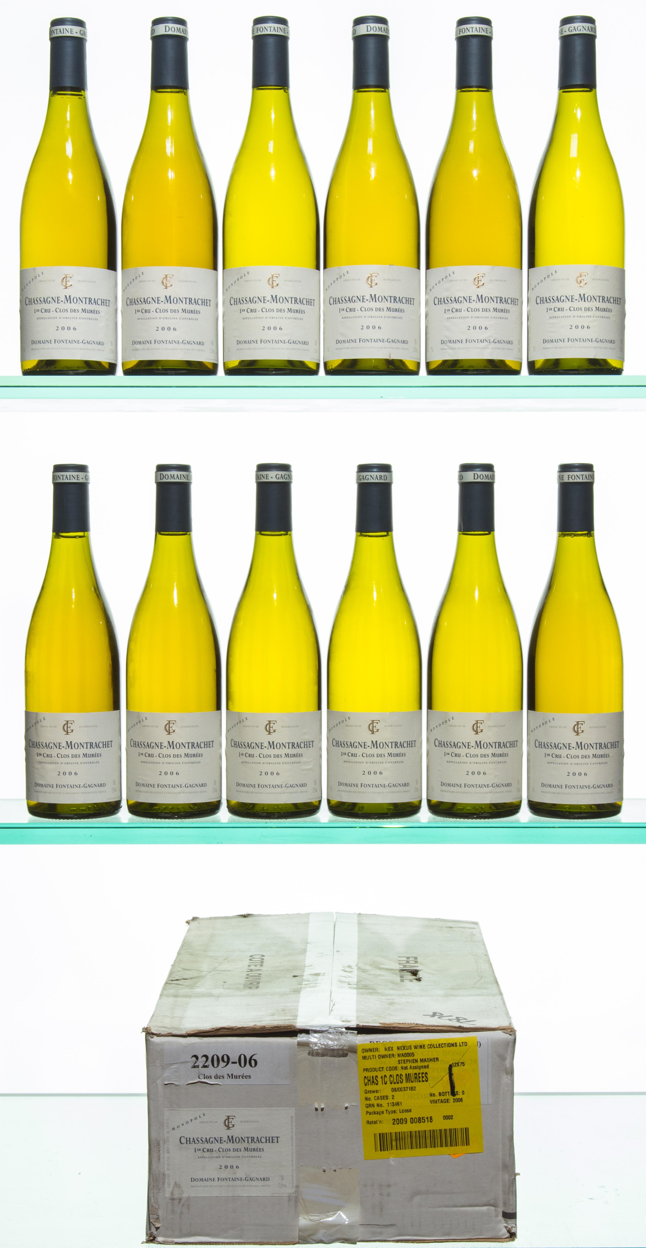 i.b. 12 bts Chassagne-Montrachet Les Murées 1er Cru 2006 oc Fontaine-Gagnard