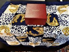 Cartier Scarf Panther Motif Edition 100% Silk
