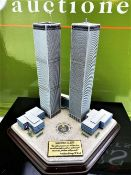 Danbury Mint September 11, 2001 9/11: Twin Towers Historic Desk Top Diarama