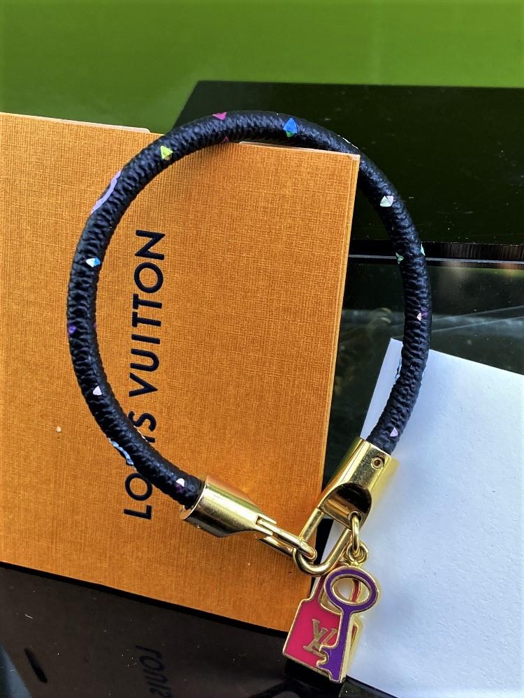 Louis Vuitton Monogram Multi Colour Classic Lock & Key Bracelet