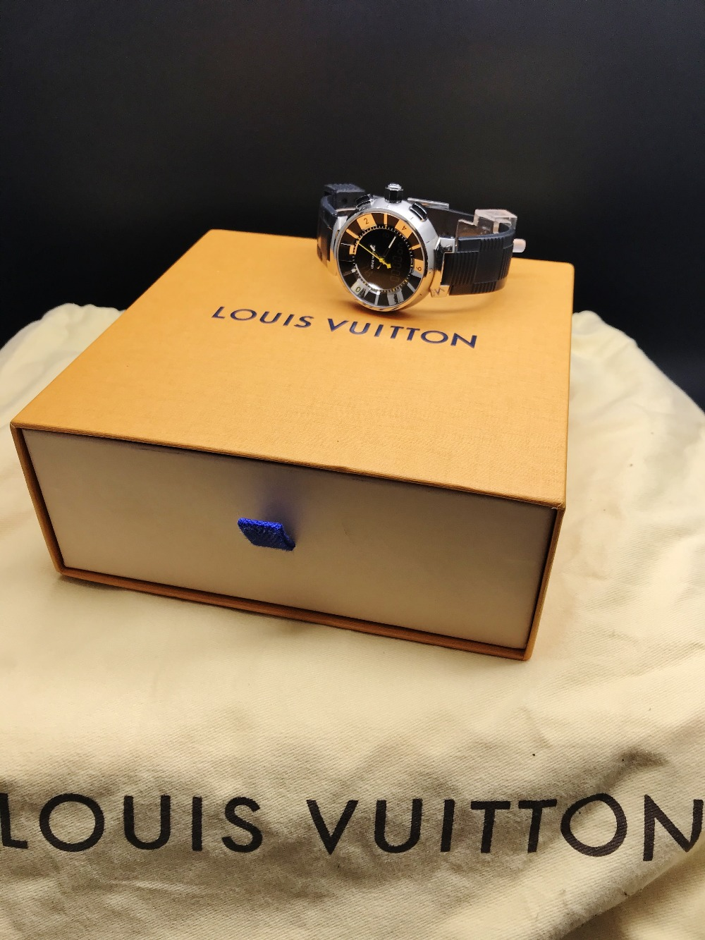Louis Vuitton Tambour Black Analogue & Digital Edition 41.5MM, Ref Q118F - Image 3 of 4