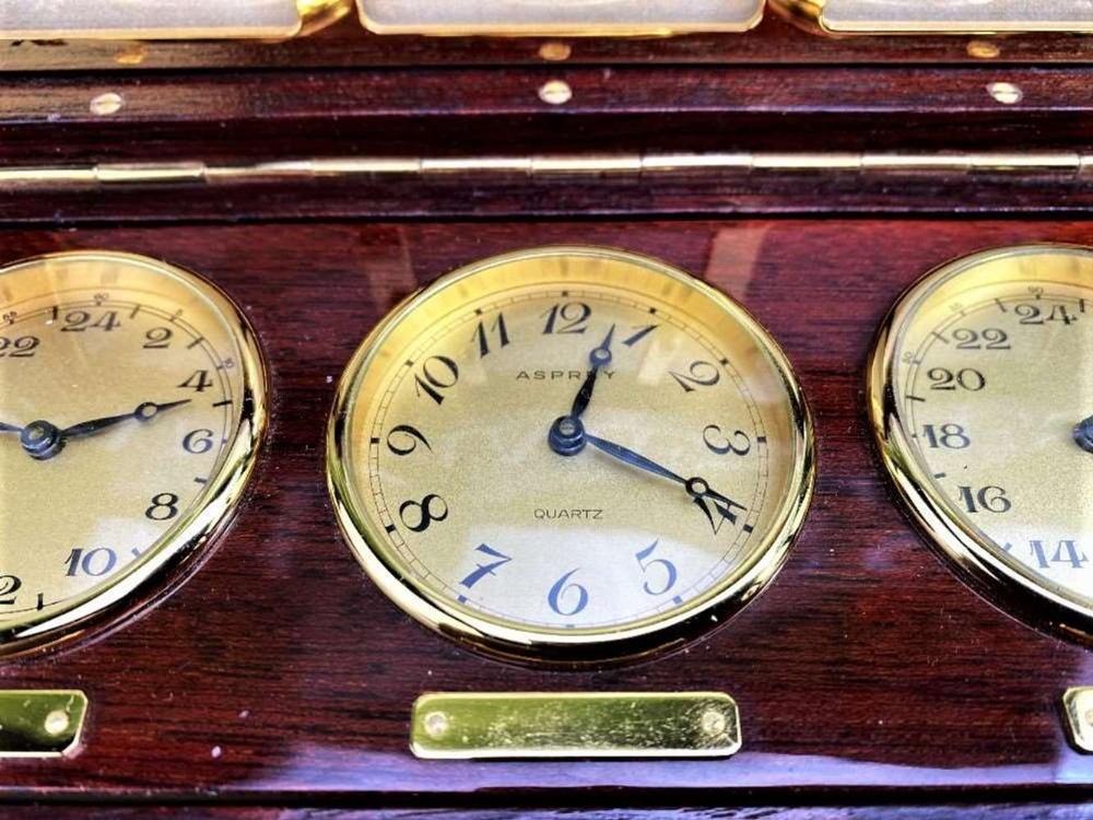 Asprey Of London World Clocks & Picture Frame Presentation - Image 2 of 8