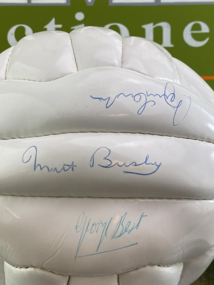 Manchester United 1968-25th Anniversary Signed Football Best, Charlton, Busby Ect - Image 2 of 5