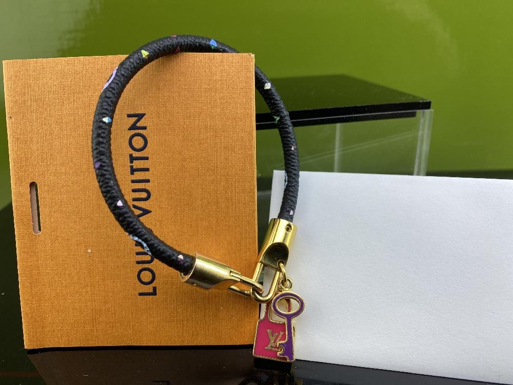 Louis Vuitton Monogram Multi Colour Classic Lock & Key Bracelet - Image 4 of 4