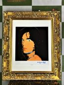 """Andy Warhol 1984 """"Mick Jagger-Rolling Stones"""" Lithograph #128/300 Ltd Edition"""