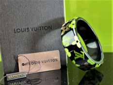 Louis Vuitton Inclusion Gold Flake Bangle & Original Case