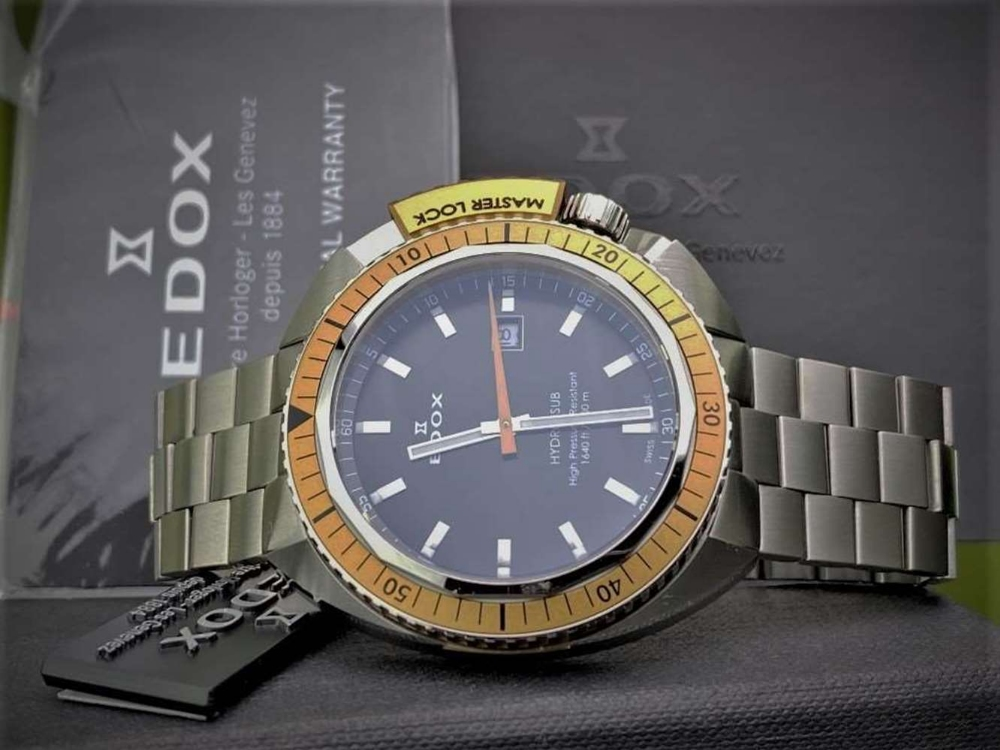 Edox Hydro Sub Mens Swiss Quartz 500m Dive Watch - Image 5 of 11