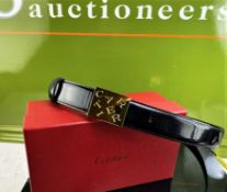 Cartier Ladies Designer Leather Belt.