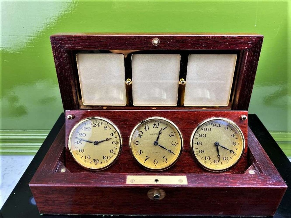 Asprey Of London World Clocks & Picture Frame Presentation - Image 4 of 8