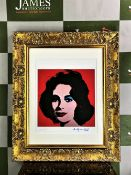 "Andy Warhol 1984 ""Elizabeth Taylor"" Lithograph # 34/100 Ltd Edition"