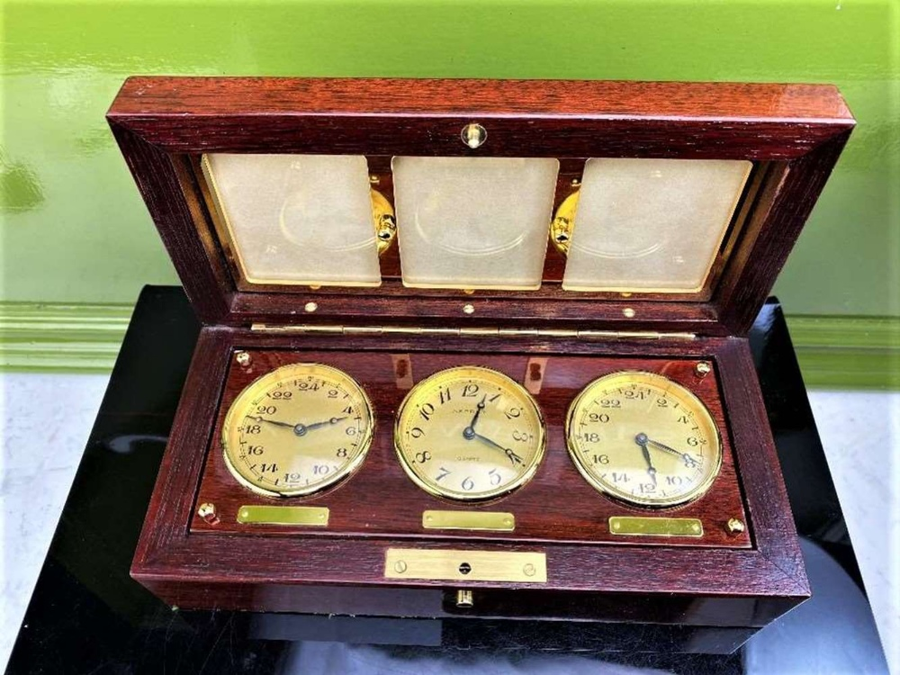 Asprey Of London World Clocks & Picture Frame Presentation - Image 7 of 8