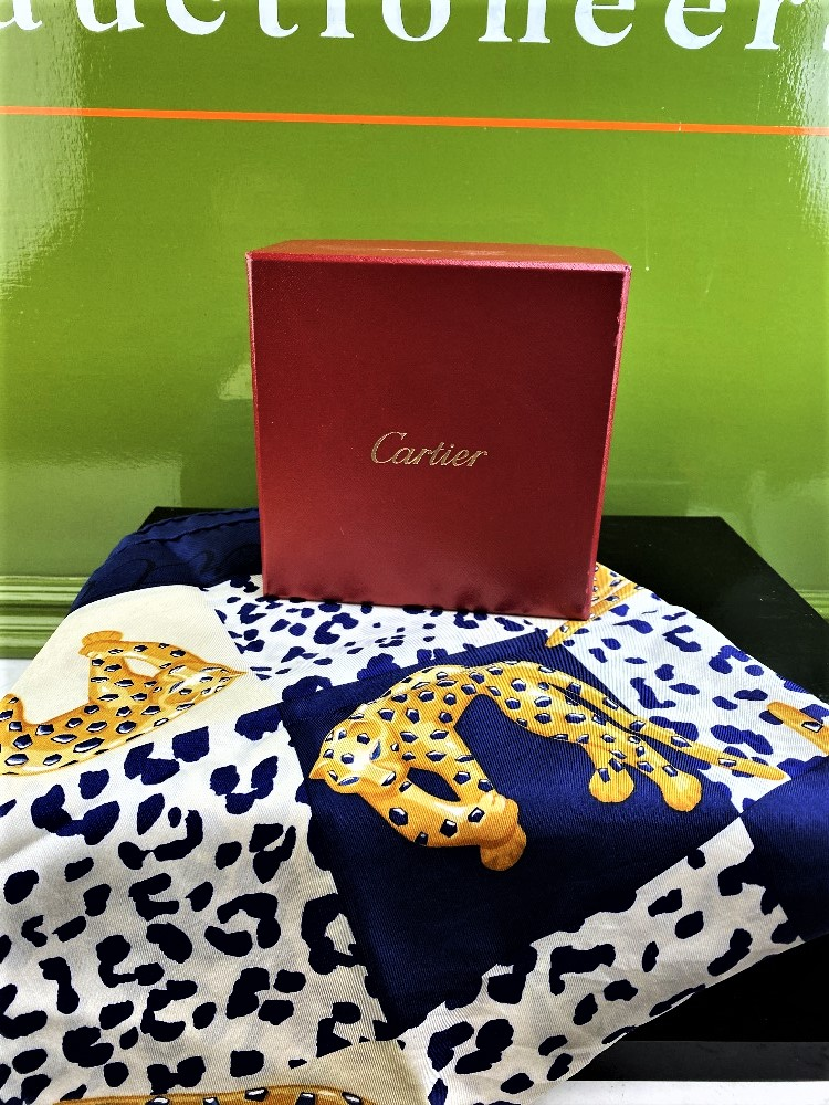 Cartier Scarf Panther Motif Edition 100% Silk - Image 4 of 4