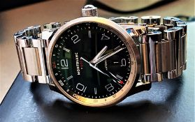 NOW SOLD PLEASE DO NOT BID-Montblanc Timewalker UTC Automatic Bracelet Edition