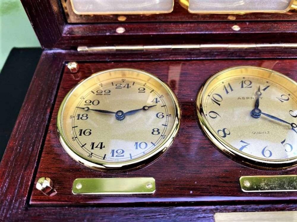 Asprey Of London World Clocks & Picture Frame Presentation - Image 3 of 8