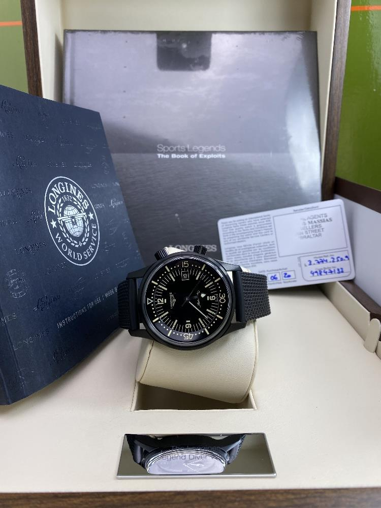 Longines Legend Diver PVD Edition-Current Model 2020 Unused Example, Rrp-£2395 - Image 3 of 10