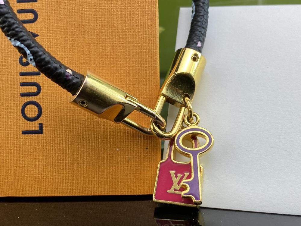 Louis Vuitton Monogram Multi Colour Classic Lock & Key Bracelet - Image 2 of 4