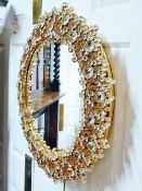 Palwa Original 60`s Vintage Cystal Illuminated Decorative Mirror-