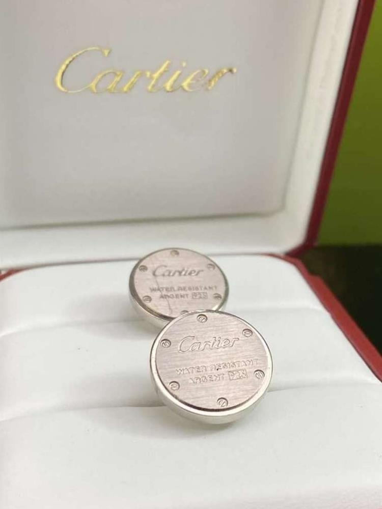 """Cartier Sterling Silver Cufflinks """"Water Resistant 925"""" Edition - Image 4 of 4"""