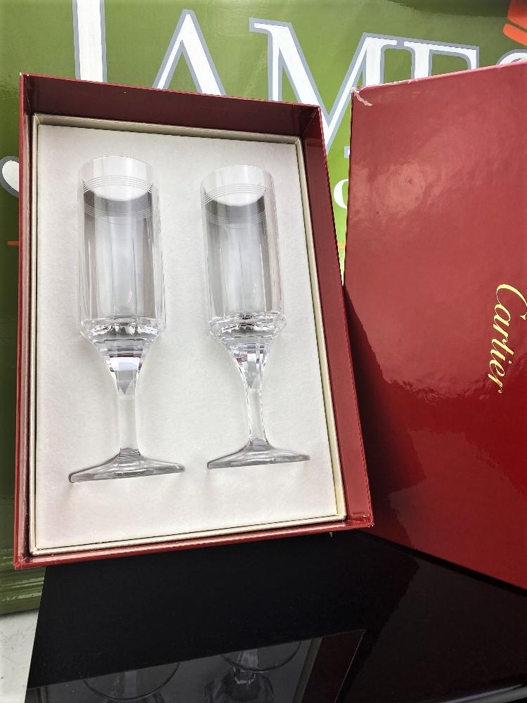 Cartier-Le Maison De Ballet Russes Set of Champagne Flutes-Unused Examples