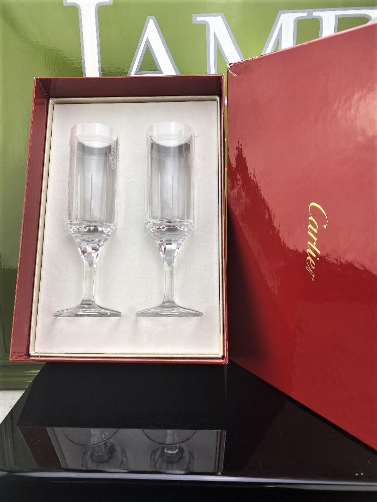Cartier-Le Maison De Ballet Russes Set of Champagne Flutes-Unused Examples - Image 5 of 5
