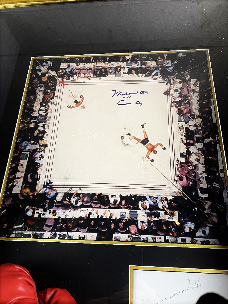 Muhammed Ali Vs Cleveland Williams-Signed 60`s Ring Magazine Photo & Glove Montage - Image 2 of 5