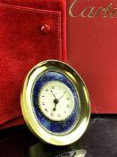 Cartier Décor Lapis Lazuli Starry Table Clock-Hand Painted Example.Rare.