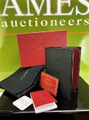 Cartier -New Example Leather Jotter/Notebook With Pencil/Credit Card Storage