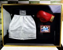 Muhammad Ali Pair of Signed Everlast Shorts & Gloves Boxing Display