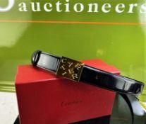 Cartier Ladies Designer Leather Belt.