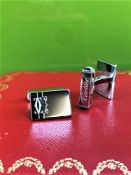 Cartier 925 Sterling Silver Cufflinks-Ex Display