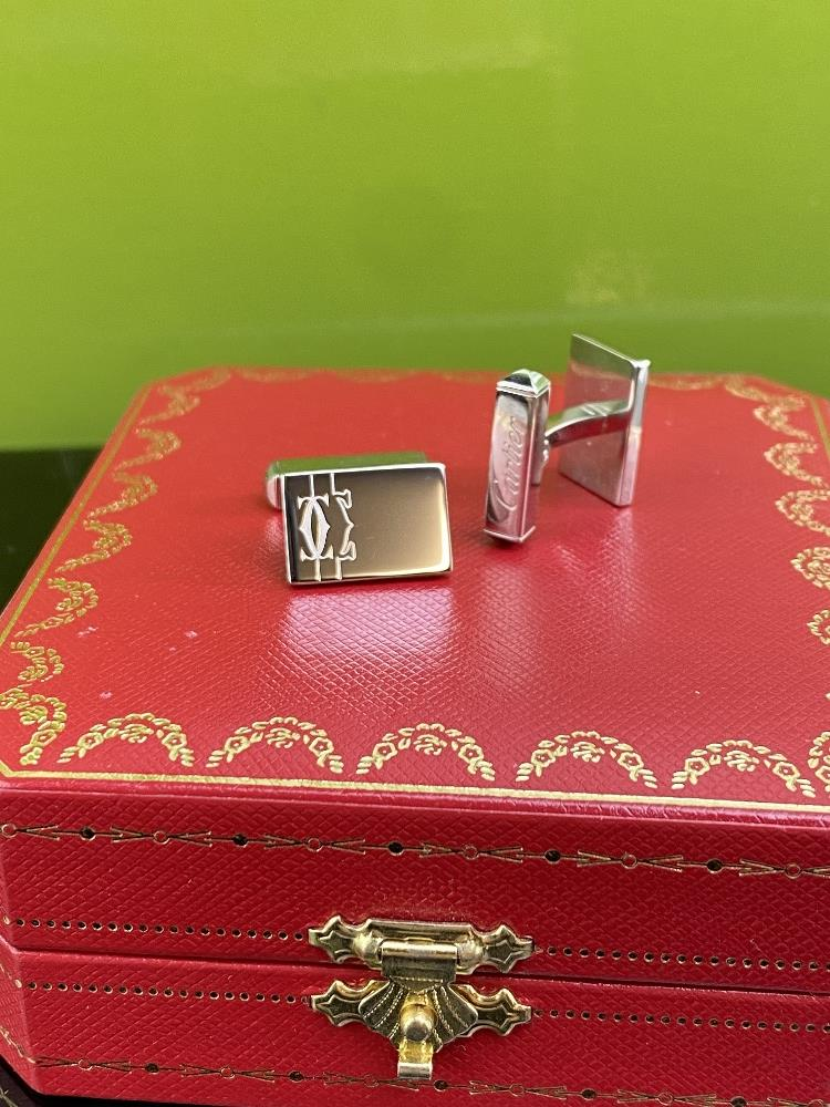 Cartier 925 Sterling Silver Cufflinks-Ex Display - Image 3 of 4