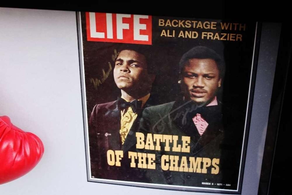 "Muhammad Ali & Joe Frazier Signed Life Magazine ""Fight of The Century"" Montage - Image 3 of 5"